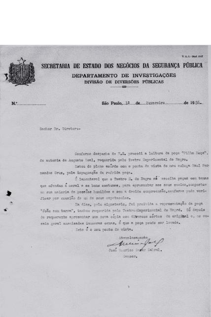 """""""Filha Moça"""" – peça censurada de Augusto Boal, 1956"""