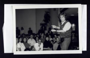 Augusto Boal em palestra na NYU