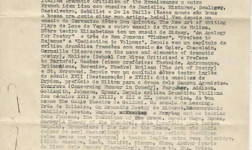 Carta de Augusto Boal para Sábato Magaldi, 1956