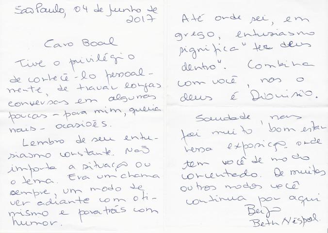Carta de Beth Néspoli