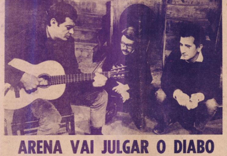 Sérgio Ricardo na praça do povo