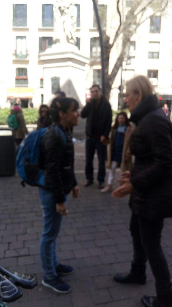 Intervenção na Plaza Tirso de Molina
