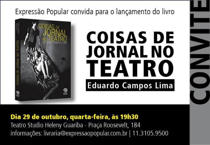 Neste sábado – Lançamento de livro sobre Teatro Jornal no Rio de Janeiro