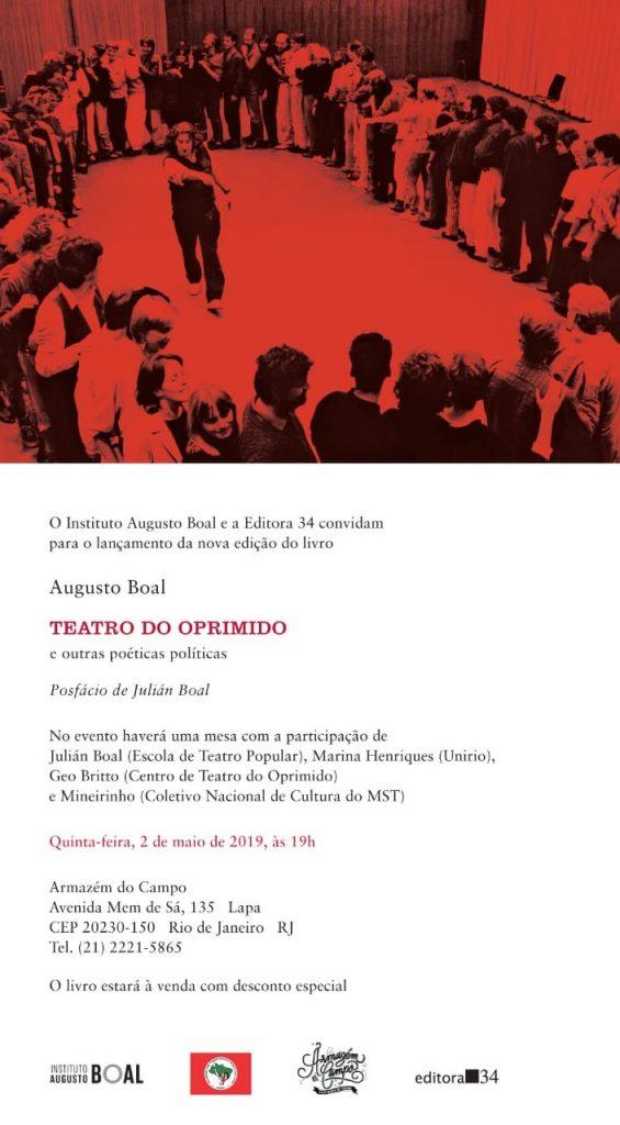 10 anos de falecimento de Augusto Boal